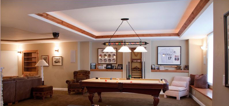 Basement Finishing With Pool Table
