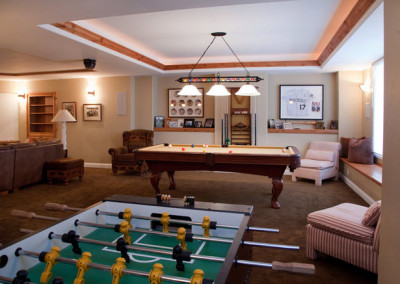 Basement Game Room Design-Example