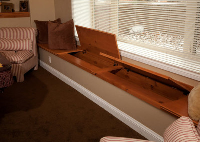 Basement Window Seat Storage