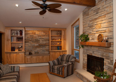 Custom Cabinetry And Fireplace Remodel