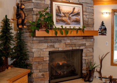 Dry Stack Ledgestone Fireplace