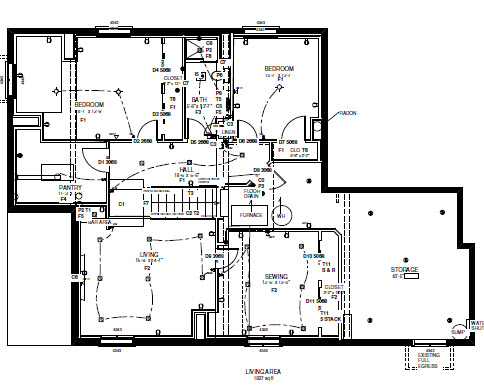 Home remodeling/consulting company provides detailed floor plans and drawings.