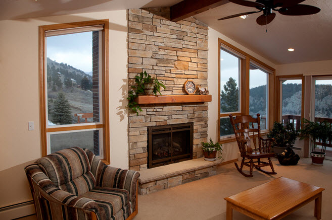 stone fireplace face - Home Interior Remodeling