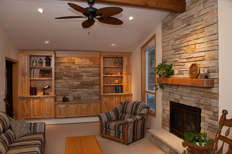 Custom Stone Fireplace Project