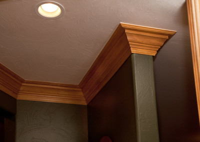 Three 3 Piece Crown Molding Installation