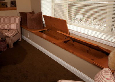Window Seat Storage Area